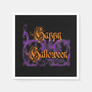 Glückliches Halloween lila Serviette