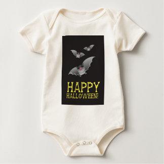 Glückliches Halloween mit niedlichem batty Baby Strampler