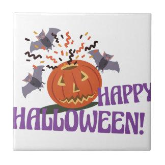 Glückliches Halloween-Motiv Keramikfliese
