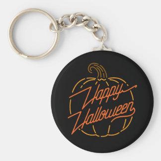 Glückliches Halloween-Neon Keychain Schlüsselanhänger
