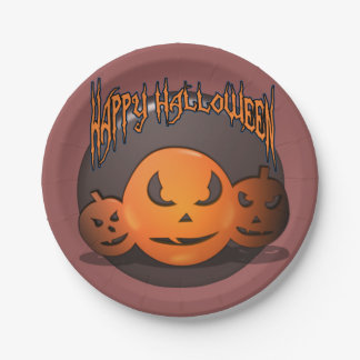 Glückliches Halloween Pappteller