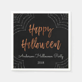 Glückliches Halloween-Party-moderne Papierserviette