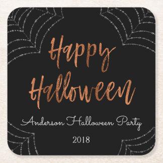 Glückliches Halloween-Party-moderne Rechteckiger Pappuntersetzer