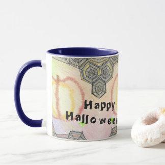 Glückliches Halloween! Playful bunte Tasse