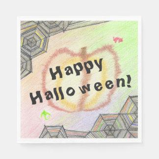 Glückliches Halloween! Playful buntes Set Papierserviette