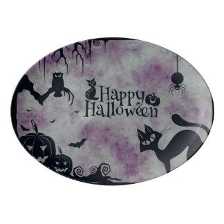 Glückliches Halloween Porzellan Servierplatte