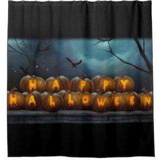 Glückliches Halloween Pumkins Duschvorhang