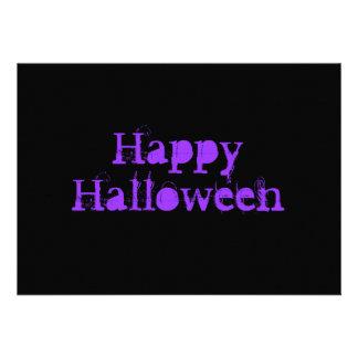 Glückliches Halloween purpurrot