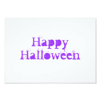 Glückliches Halloween, purpurrot 12,7 X 17,8 Cm Einladungskarte