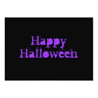 Glückliches Halloween, purpurrot Personalisierte Ankündigung