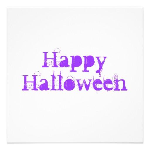 Glückliches Halloween, purpurrot Einladungskarte