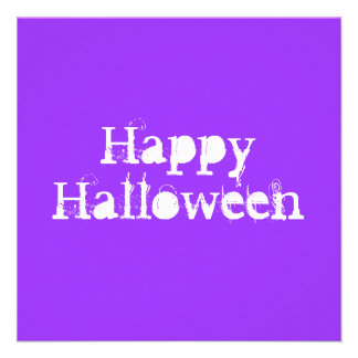 Glückliches Halloween purpurrot Einladungskarte