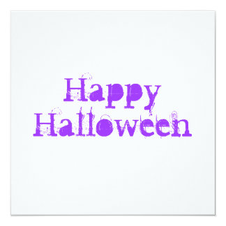 Glückliches Halloween, purpurrot Quadratische 13,3 Cm Einladungskarte