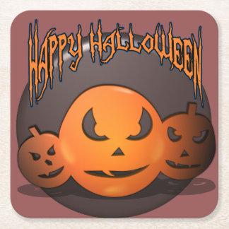 Glückliches Halloween Rechteckiger Pappuntersetzer