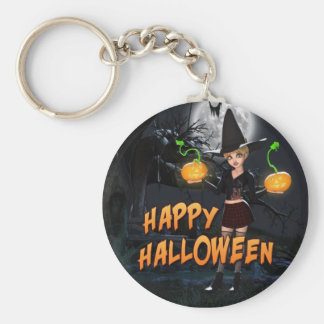 Glückliches Halloween Skye Keychain Schlüsselbänder