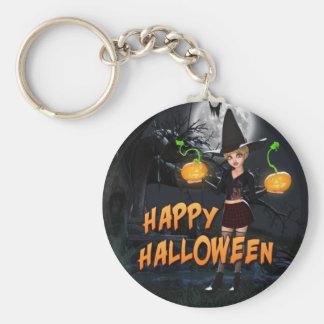 Glückliches Halloween Skye Keychain Standard Runder Schlüsselanhänger