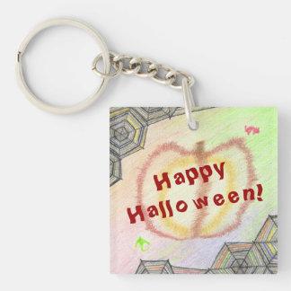 Glückliches Halloween! Spielerisches buntes Schlüsselanhänger