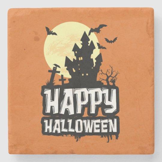 Glückliches Halloween Steinuntersetzer