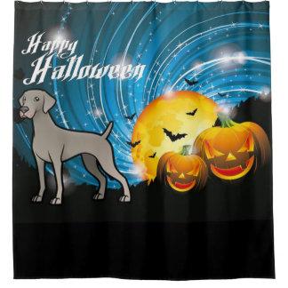 Glückliches Halloween Weimaraner Duschvorhang