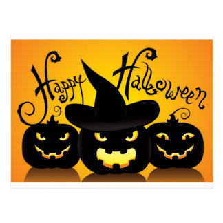 Glückliches Halloween Witchy Poo Postkarte