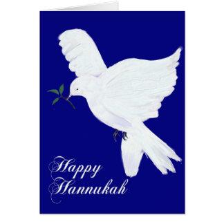 Glückliches Hannukah! - Friedenstaube Karte