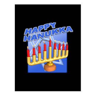 Glückliches Hanukka Postkarte