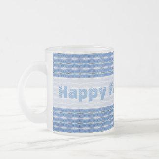 glückliches hellblaues Muster des Vatertags Mattglastasse