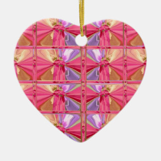 Glückliches Herz des eleganten Keramik Ornament