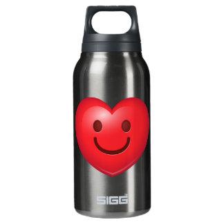 Glückliches Herz Emoji Isolierte Flasche