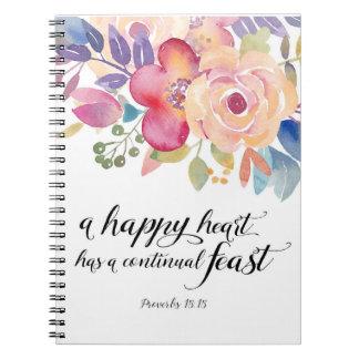 Glückliches Herz-Notizbuch Notizblock