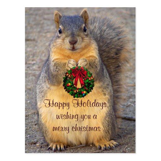 Glückliches Holidays_ Postkarte