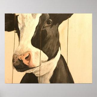 Glückliches Holstein Poster
