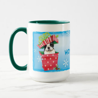 Glückliches Howliday Boston Terrier Tasse