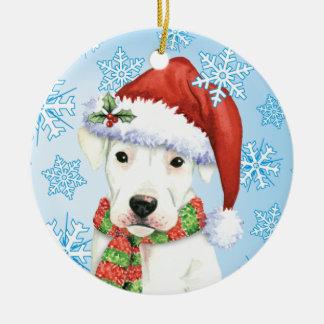 Glückliches Howliday Dogo Keramik Ornament