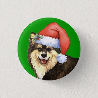 Glückliches Howliday finnisches Lapphund Runder Button 2,5 Cm