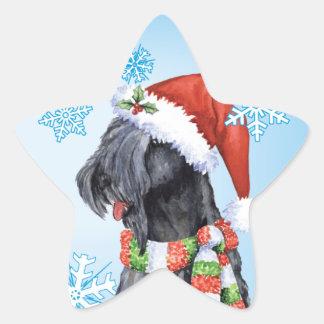 Glückliches Howliday Kerry Blau Terrier Stern-Aufkleber