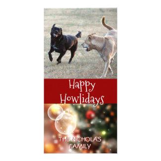 Glückliches Howlidays | HundeweihnachtsFoto Karte