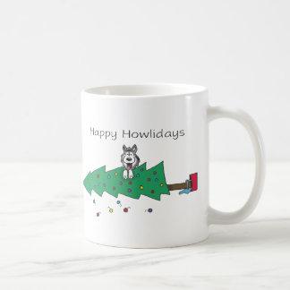 Glückliches Howlidays Kaffeetasse