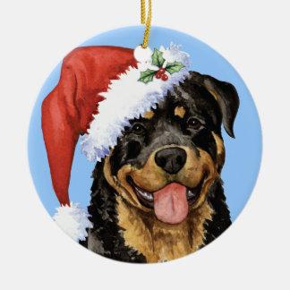 Glückliches Howlidays Rottweiler Keramik Ornament