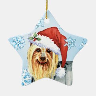 Glückliches Howlidays seidiges Terrier Keramik Ornament
