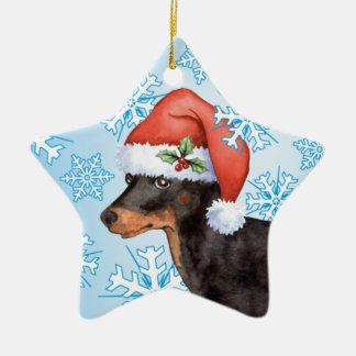 Glückliches Howlidays Spielzeug Manchester Terrier Keramik Ornament