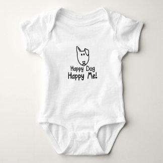 glückliches Hundebaby wachsen Hemd