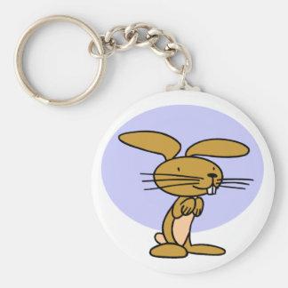 Glückliches Kaninchen Schlüsselanhänger