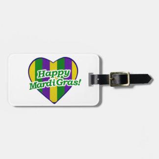 Glückliches Karneval-Logo Kofferanhänger