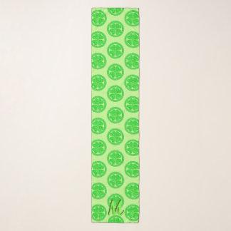 Glückliches keltisches Blatt-Klee-Monogramm des Schal