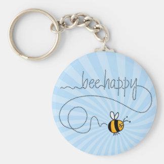 glückliches keychain Hinter der Biene Schlüsselanhänger