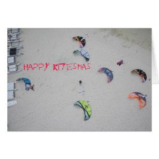 """""""Glückliches Kitesmas"""" kiteboard kitesurf Weihnach Grußkarten"""