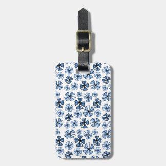 Glückliches Kleeblatt-Klee-Blau Gepäckanhänger