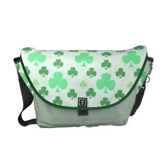 Glückliches Kleeblatt-Muster Kurier Tasche