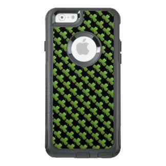 Glückliches Kleeblatt-Muster, Schwarzes und Grün OtterBox iPhone 6/6s Hülle